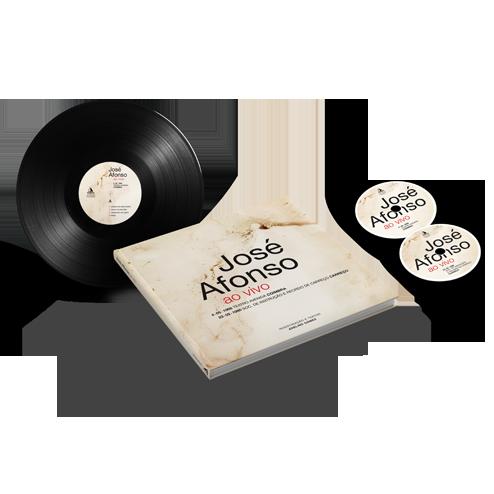 José Afonso ao vivo livro e discos